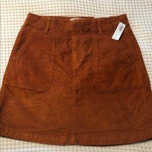 burnt orange corduroy skirt - old navy